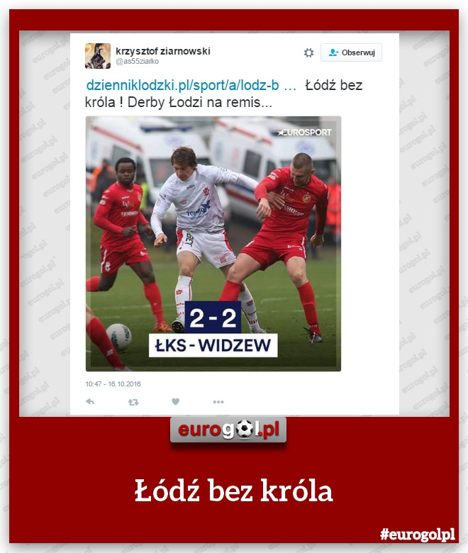 Derby Łodzi na remis
