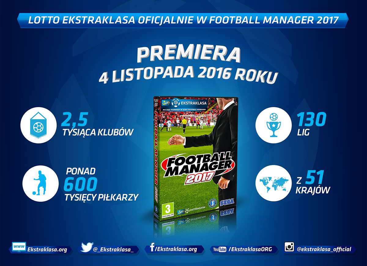 Lotto Ekstraklasa w Football Managerze 2017!