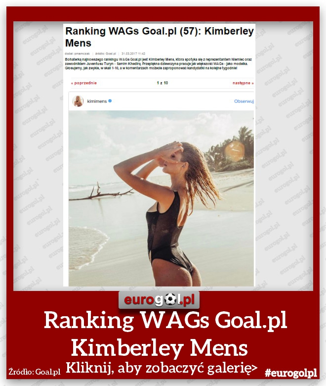 Ranking WAGs Goal.pl Kimberley Mens